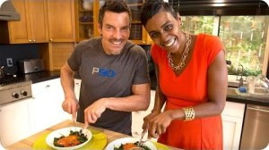 Tony Horton cooks a healthy chicken parmesan recipe from the P90 Meal Plan