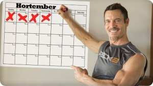 Tips from P90X Tony Horton on how to schedule workouts