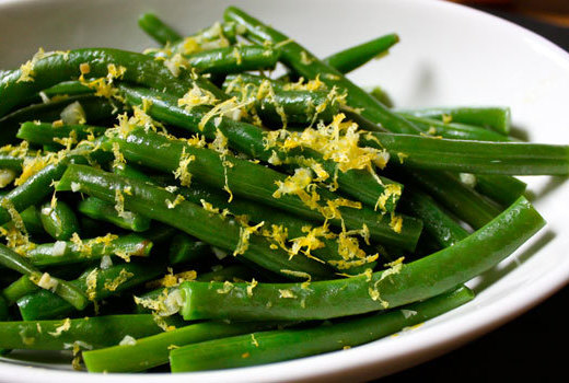 Green beans with lemon and thyme recipe