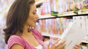 Reading nutrition labels to find the healthiest processed foods at the grocery store