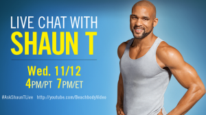 Live chat with Shaun T