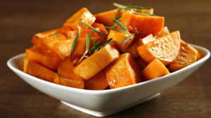 Rosemary roasted yams recipe