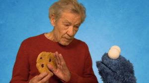 Cookie Monster Sir Ian McKellen Resist Self Control