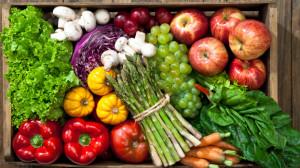30 Day Vegan Challenge box of vegetables fruit