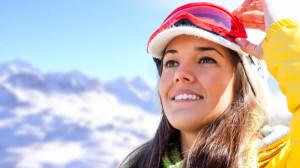 Woman Skiing Winter Sports Burn Calories