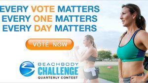 Beachbody Challenge Quarterly Voting Vote Now