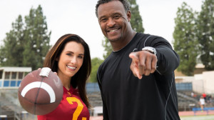 NFL linebacker Willie McGinest with Autumn Calabrese