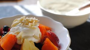Tropical Fruit Salad with Vanilla Yogurt