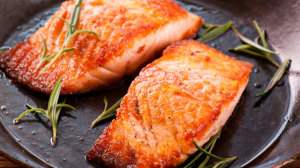 Grilled Salmon with Sea Salt and Chili