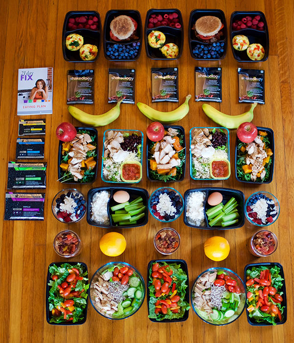 Meal Prep For The 21 Day Fix 2 100 2 300 Calorie Level