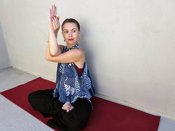 Eagle pose shoulder pain yoga