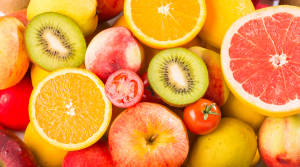 Orange, Apple, Grapefruit, Kiwi, Tomato
