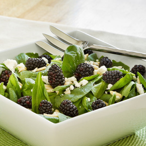 Blackberry spinach salad recipe