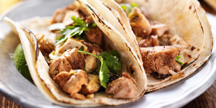Even though these simple chicken tacos taste like delicious comfort ...