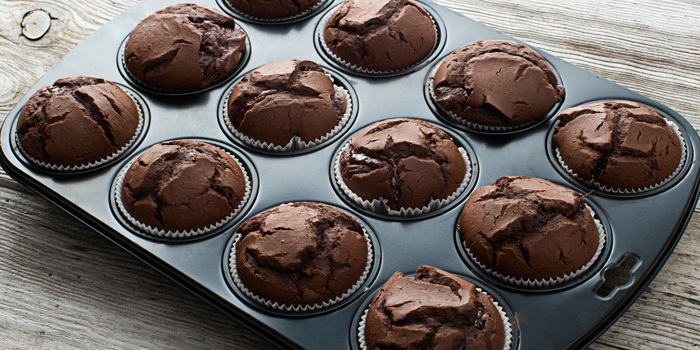 Flourless Chocolate Brownie Muffins Recipe