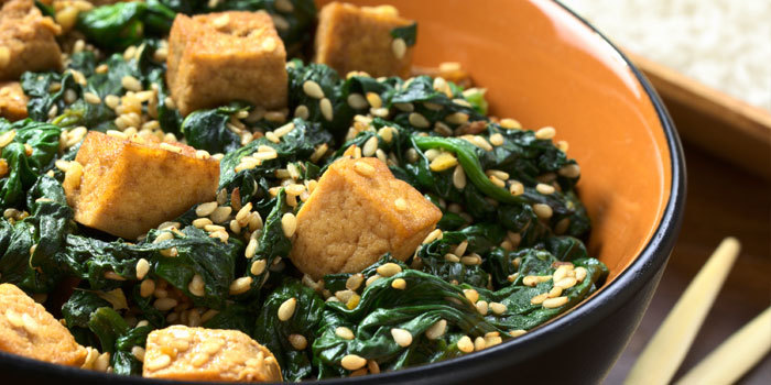 Fried Black Rice With Ginger Tofu And Spinach Recipes — Dishmaps