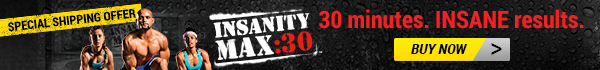 Shaun T's INSANITY MAX:30 is available now with a special shipping offer