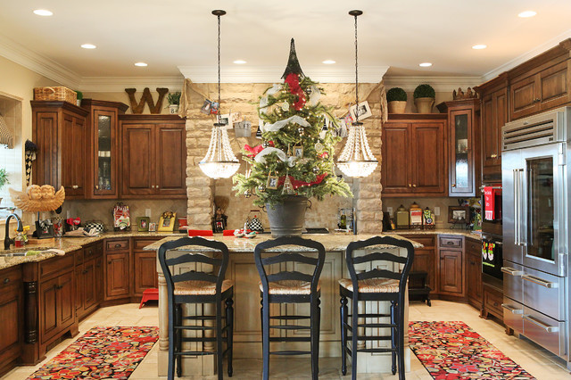 Decorated Kitchens Awesome Of Kitchen Island Christmas Decorating Ideas Photos