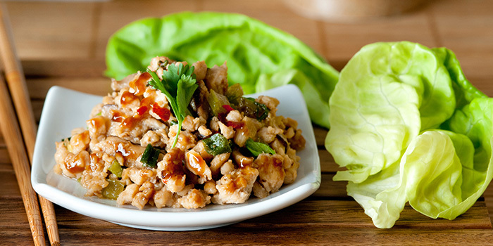 Asian Lettuce Cups (or Wraps) With Spicy Ground Turkey Filling Recipe ...