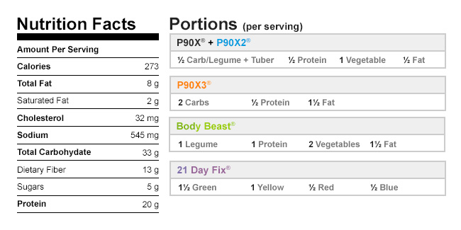 Calories in Chicken and Black Bean Burrito Salad