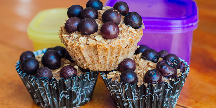 21 Day Fix Recipes, Breakfast, Baked Oatmeal Cups, Blueberries, Bananas, Melanie Mitro