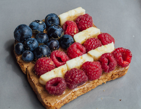Peanut Butter Berry Banana Toast