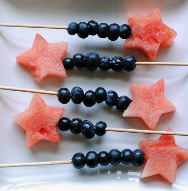 Watermelon and Blueberry Skewers