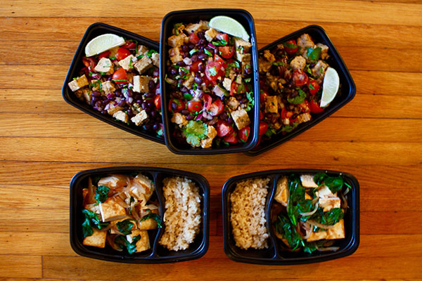 This healthy 1200 1500 calorie vegetarian meal prep is a for Fish only diet
