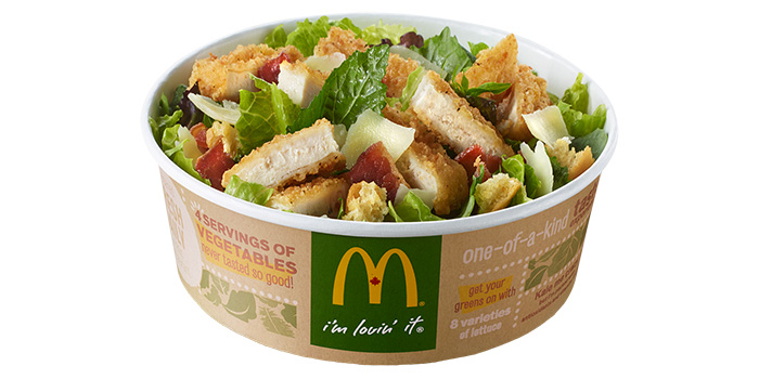 chicken caesar, healthy salad, 21 day fix approved salad, 21 day fix salad, 21 day fix caeser salad, clean eating caesar salad, mcdonalds salad with high calories, healthier salads than mcdonalds, healthy options, clean eating dressing, paleo,