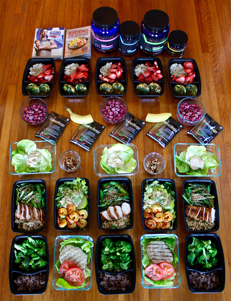 22 Minute Hard Corps Meal Plan At The 1,200–1,500 Calorie