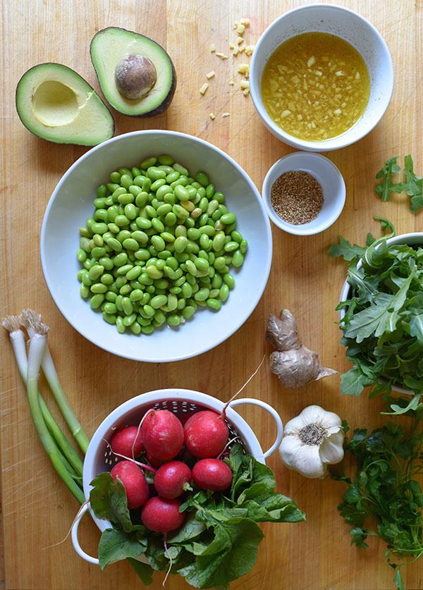 Edamame and Radish Salad with Avocado Recipe   BeachbodyBlog.com
