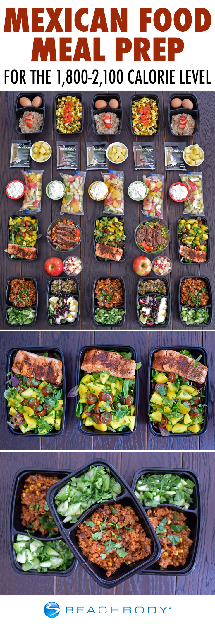 Mexican Food Meal Prep for the 1,800-2,100 Calorie Level | BeachbodyBlog.com