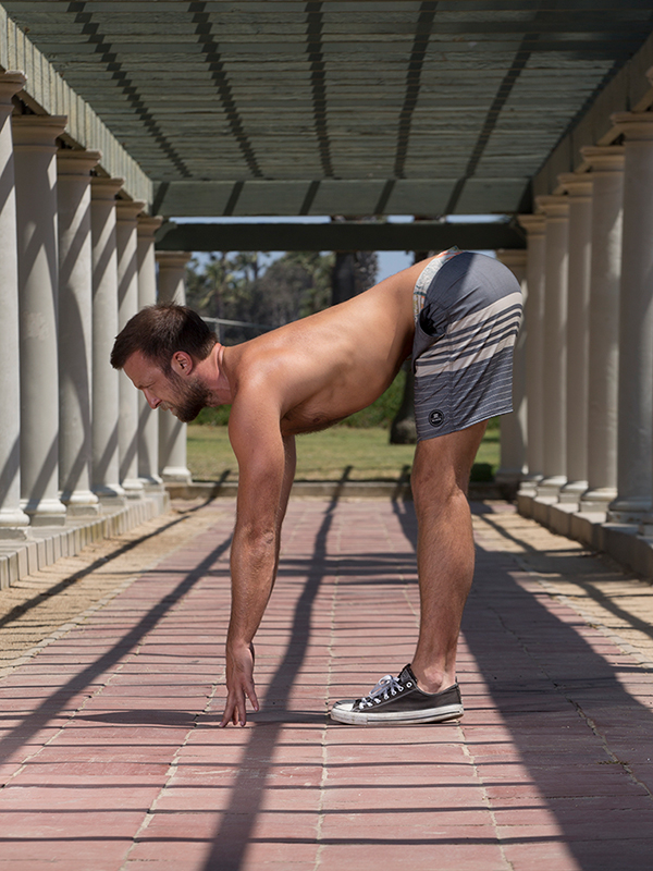 5 Standing Poses for Core Strength - Half Forward Fold
