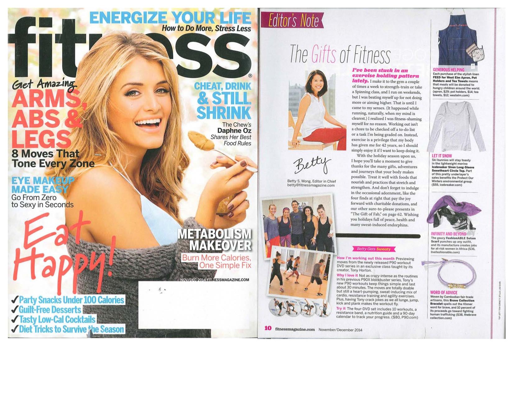 sports shoes 35ac1 3d2f6 Fitness Magazine, November 2014