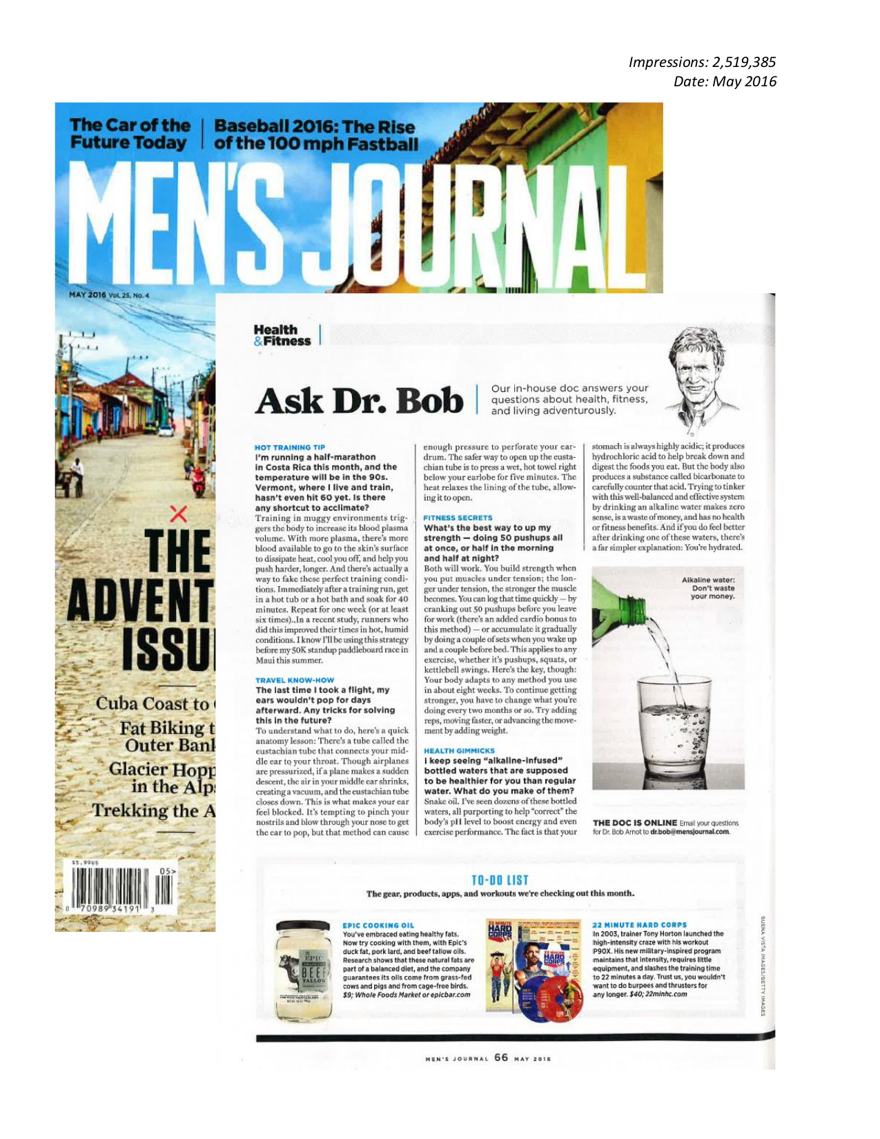 Men's Journal, May 2016