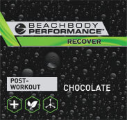 Post-workout. Chocolate flavor.