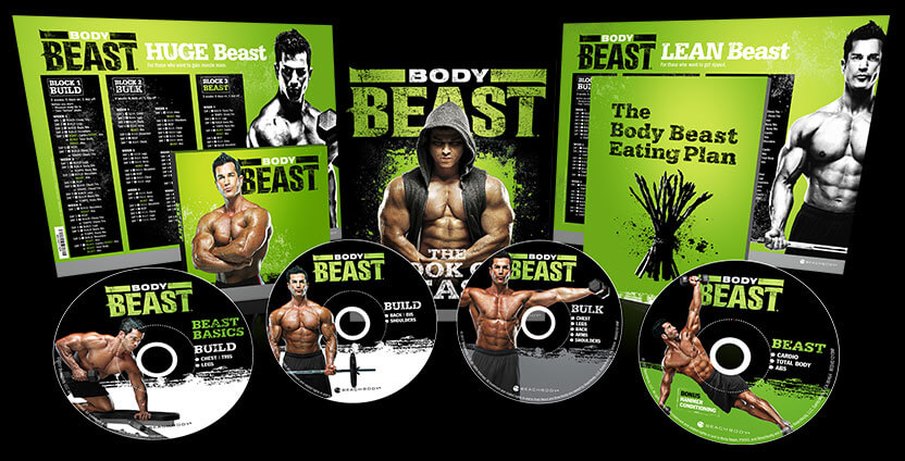 Body Beast Workout DVDs - Carve Lean, Defined Muscle & Burn