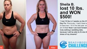 sheila B daily winner beachbody challenge