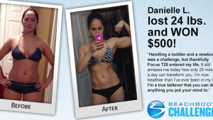 Danielle L daily winner beachbody challenge