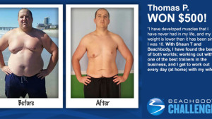 Thomas P daily winner beachbody challenge