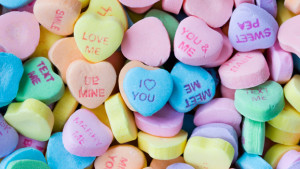 Calories in Valentine's Day Foods Candy Hearts