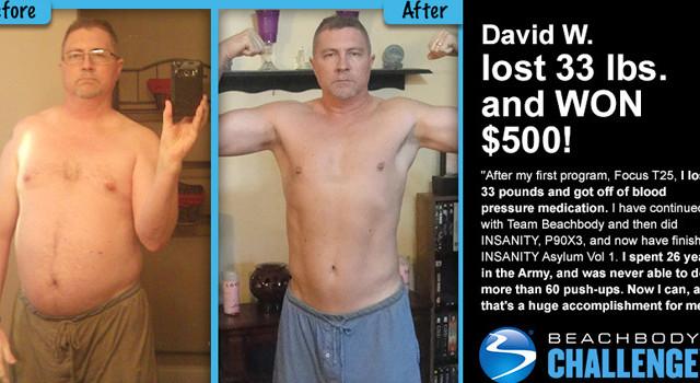 David W daily winner beachbody challenge