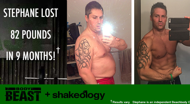 Body Beast Results Stephane S. Lost 82 Pounds