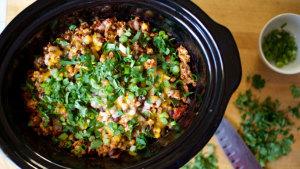 Slow Cooker Cheesy Chicken Enchiladas Recipe | BeachbodyBlog.com