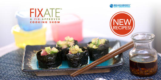 ahi and avocado sushi with sesame infusion