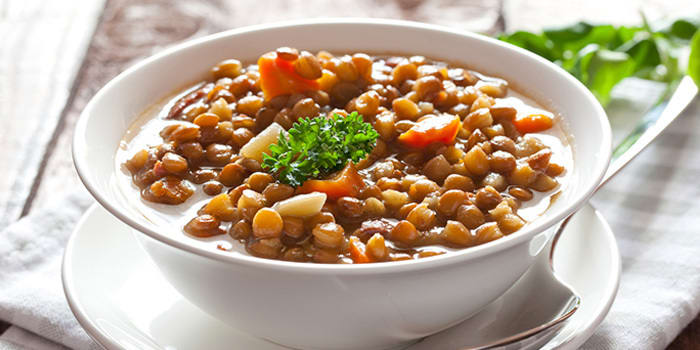 bowl of inexpensive protein lentils