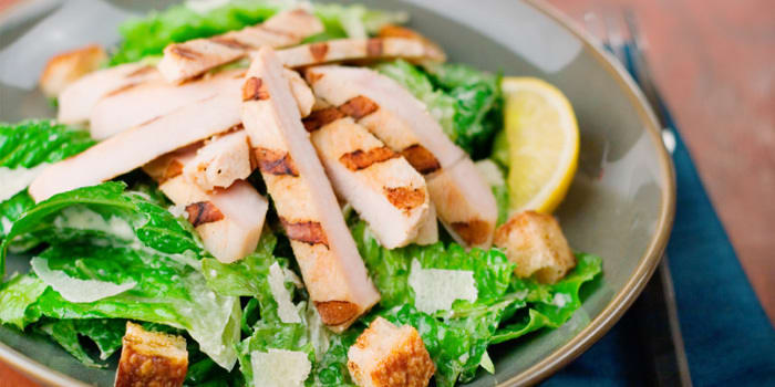 Grilled Chicken Caesar Salad with Creamy Lemon Caesar Dressing | The ...