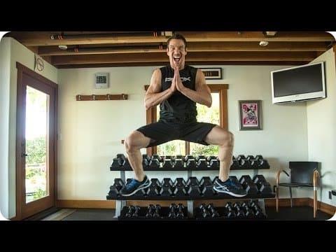 Tony Horton demonstrates how to do plyometric squats with variations.