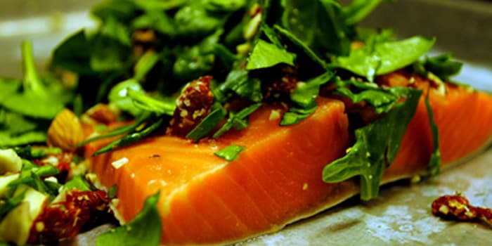 Beachbody Blog Spinach Stuffed Salmon Fillet