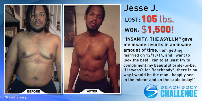 INSANITY Results: Jesse Lost 105 Pounds and Won $1,500 ...